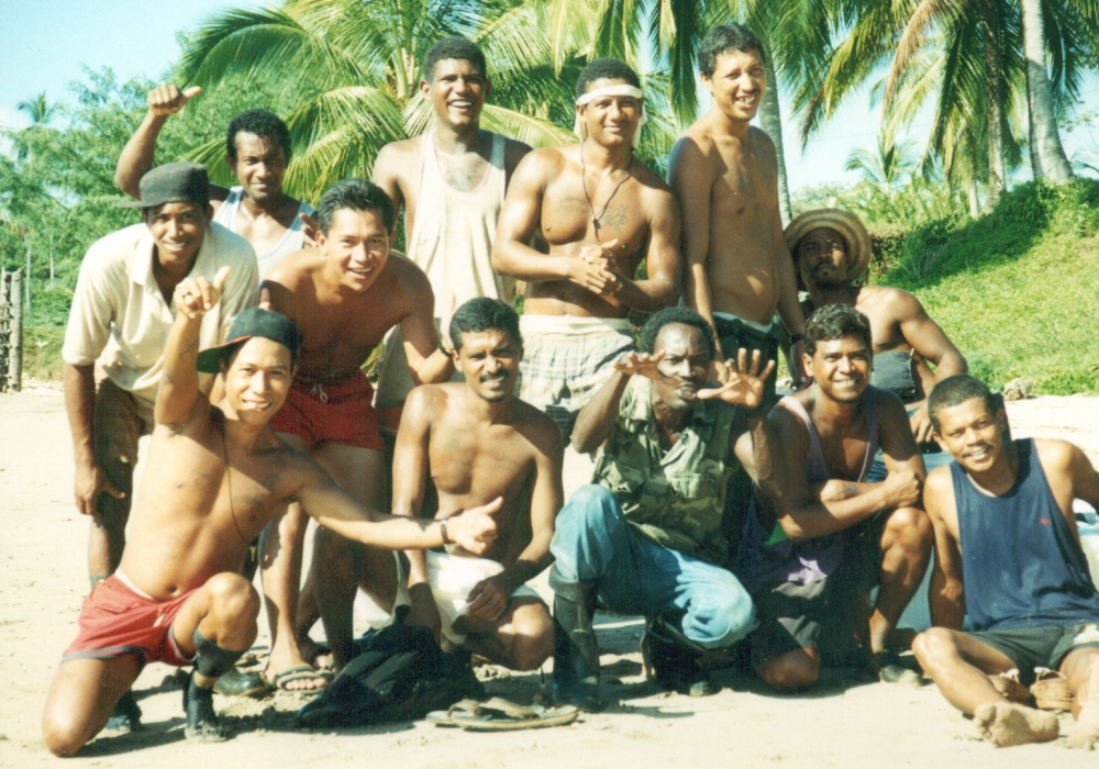 Coiba's past happy inmates. Great place to spend time , if you must be imprisoned